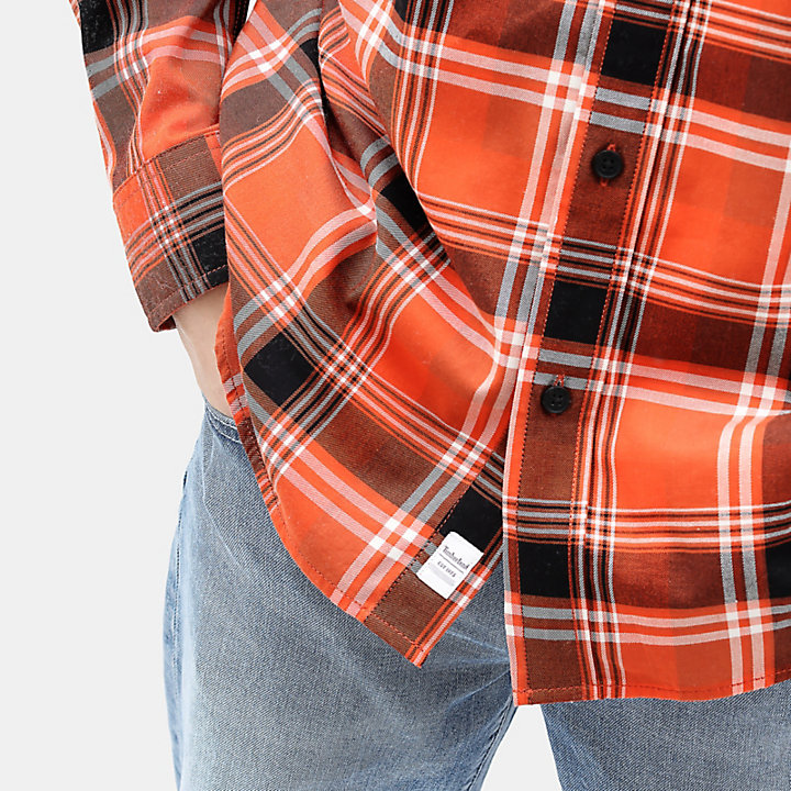 Back River Tartan Shirt for Men in Orange-