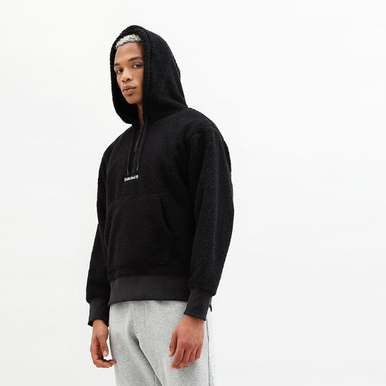Sherpa Fleece Hoodie for Men in Black | Timberland