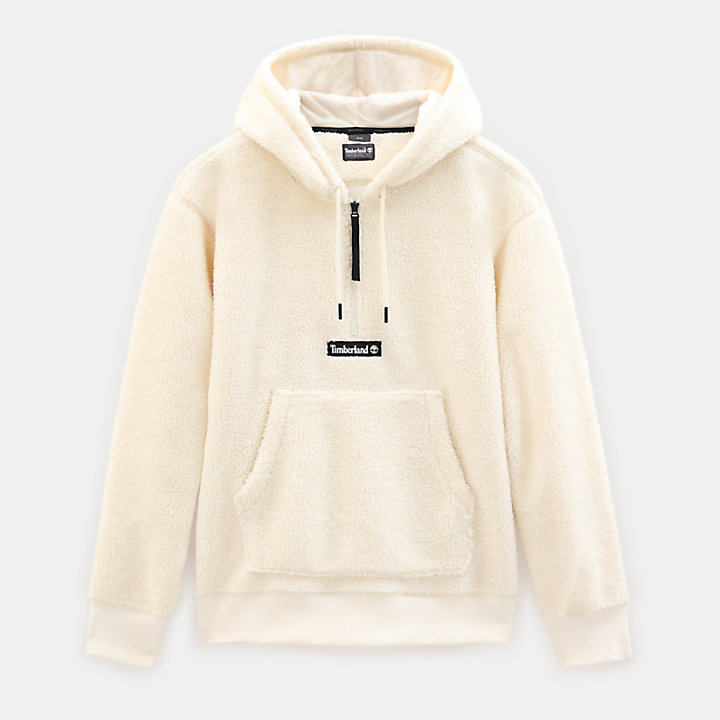 Sherpa Fleece Hoody voor Heren in wit-