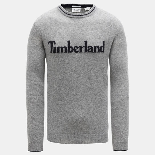 Linear Logo Sweater for Men in Grey | Timberland
