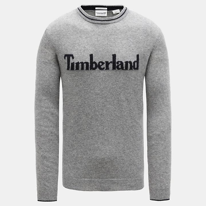 Linear Logo Sweater voor Heren in grijs-