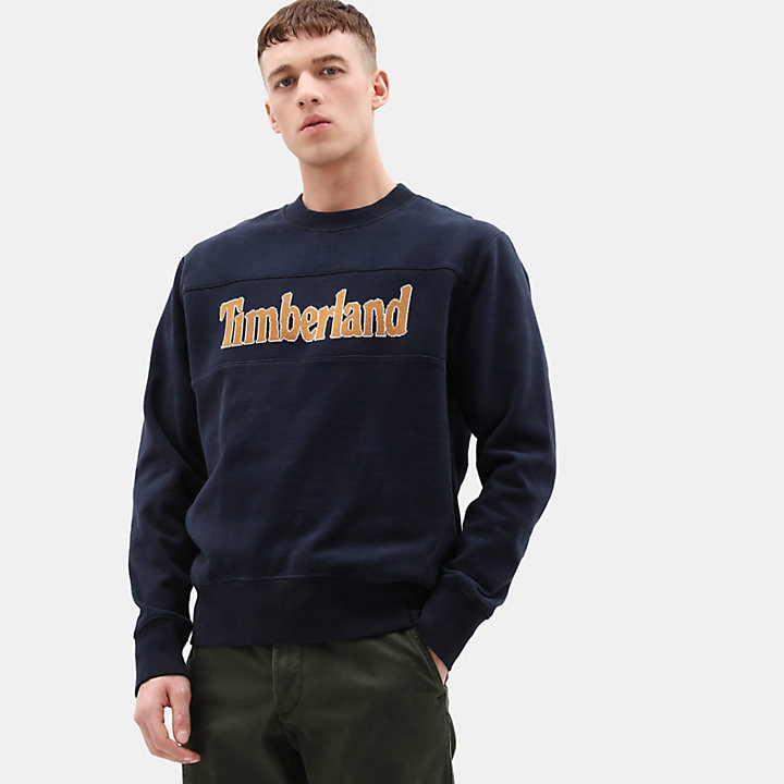 Connecticut River Sweatshirt für Herren in Marineblau-
