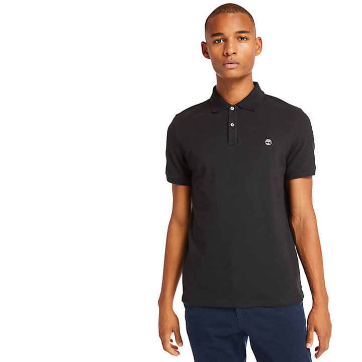 Millers River Polo Shirt for Men in Black-