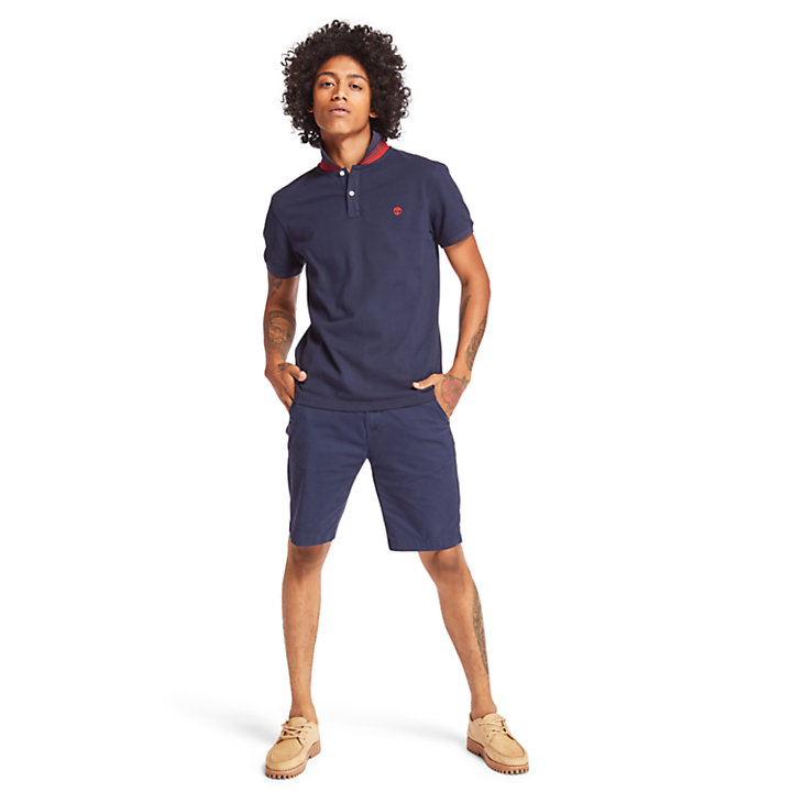 Millers River Polo Shirt for Men in Navy-