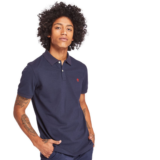 Millers River Polo Shirt for Men in Navy | Timberland