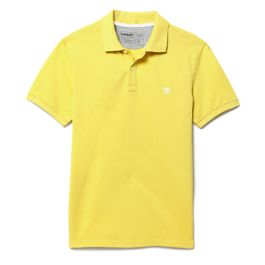 Millers River Jacquard Polo Shirt for Men in Yellow | Timberland