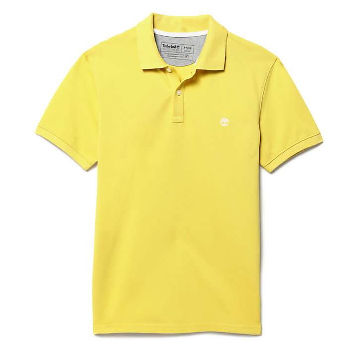 Millers River Jacquard Polo Shirt for Men in Yellow-