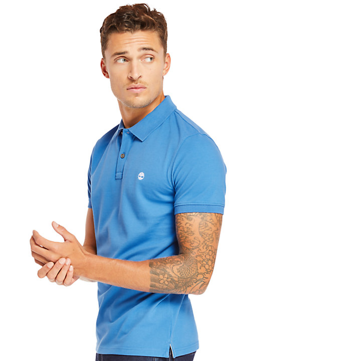 Millers River Jacquard Polo Shirt for Men in Blue-