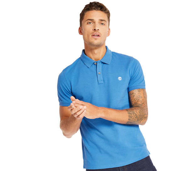 Millers River Jacquard Polo Shirt for Men in Blue | Timberland