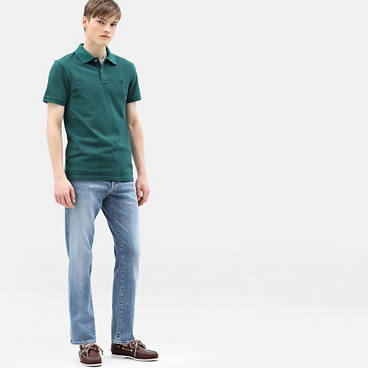 Millers River Polo Shirt for Men in Green-