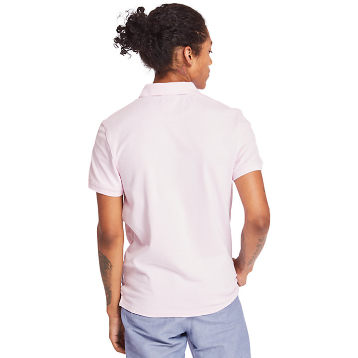Millers River Jacquard Polo Shirt for Men in Lilac-