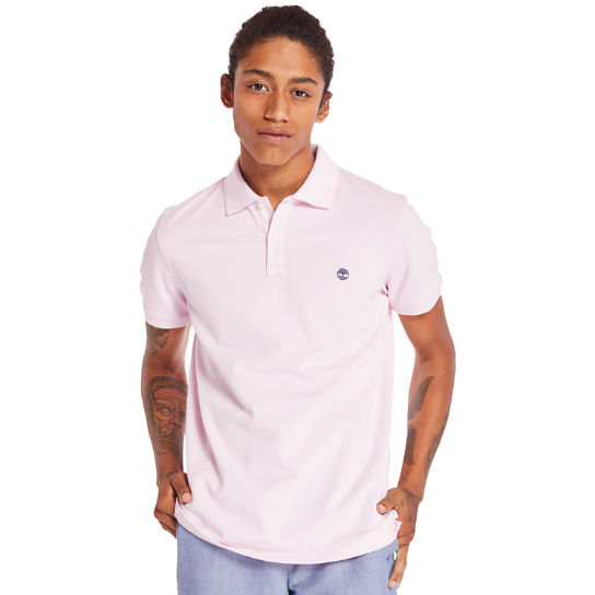 Millers River Jacquard Poloshirt voor Heren in lila | Timberland
