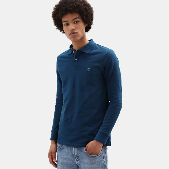 Millers River LS Polo Shirt for Men in Teal | Timberland