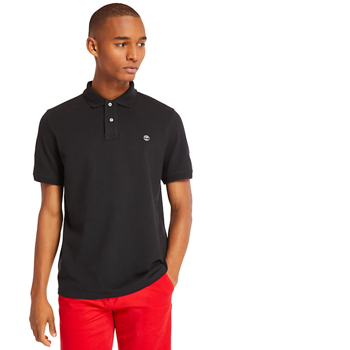 Millers River Regular Polo Shirt for Men in Black-