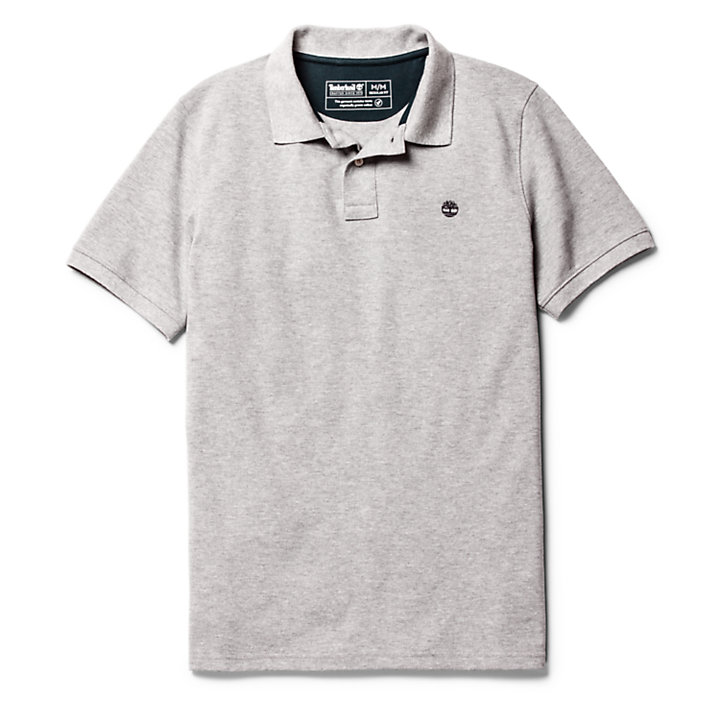 Millers River Regular Polo Shirt for Men in Grey-