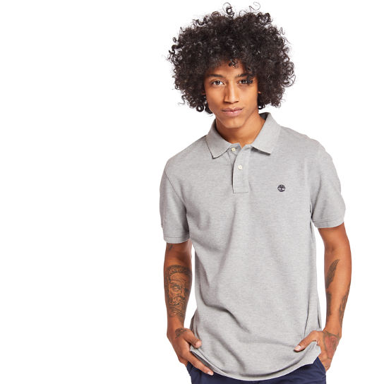 Millers River Regular Polo Shirt for Men in Grey | Timberland