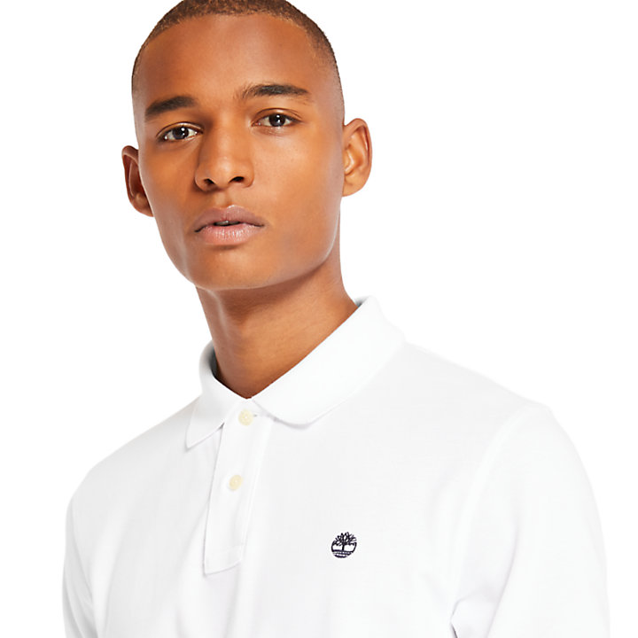 Millers River Regular Polo Shirt for Men in White-