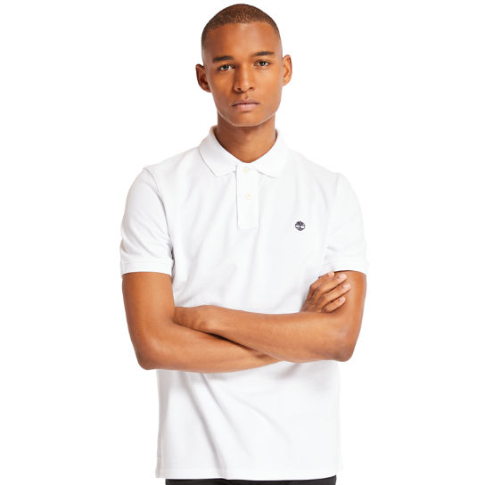 Millers River Regular Polo Shirt for Men in White | Timberland