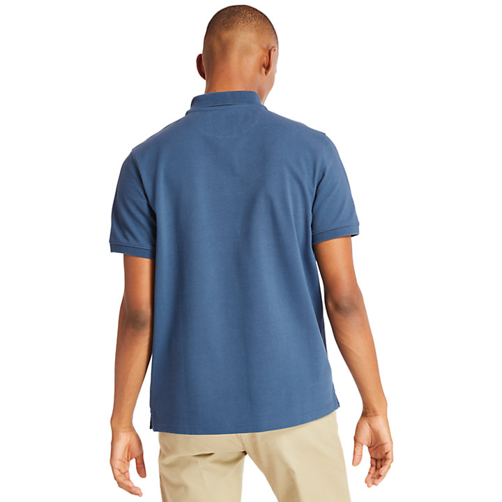 Millers River Polo Shirt for Men in Dark Blue-