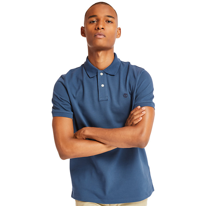 Polo da Uomo Millers River in blu scuro-