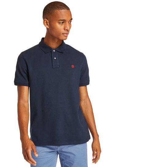 Millers River Regular Polo Shirt for Men in Navy | Timberland