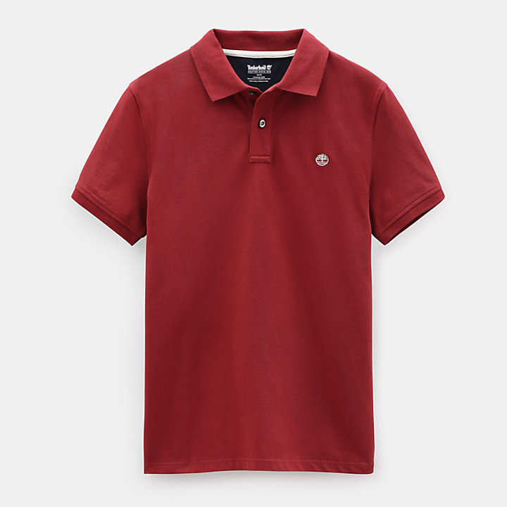 Millers River Regular Polo Shirt for Men in Dark Red-