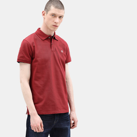 Millers River Regular Polo Shirt for Men in Dark Red | Timberland