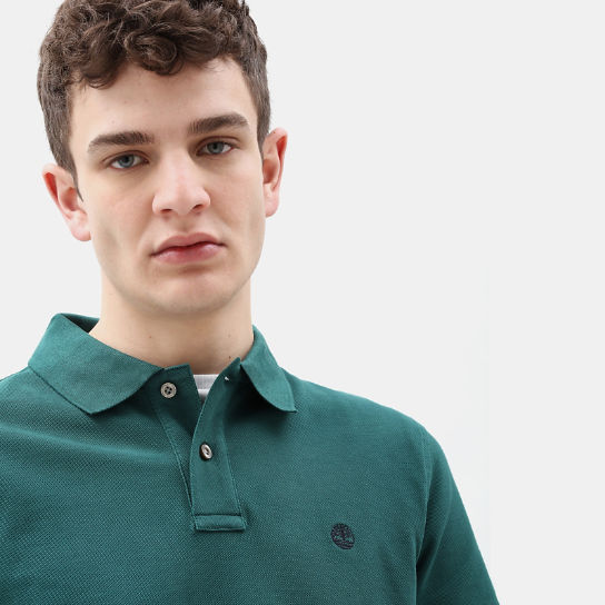 Millers River Regular Polo Shirt for Men in Green | Timberland