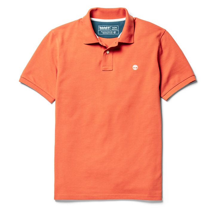Millers River Polohemd für Herren in Orange-