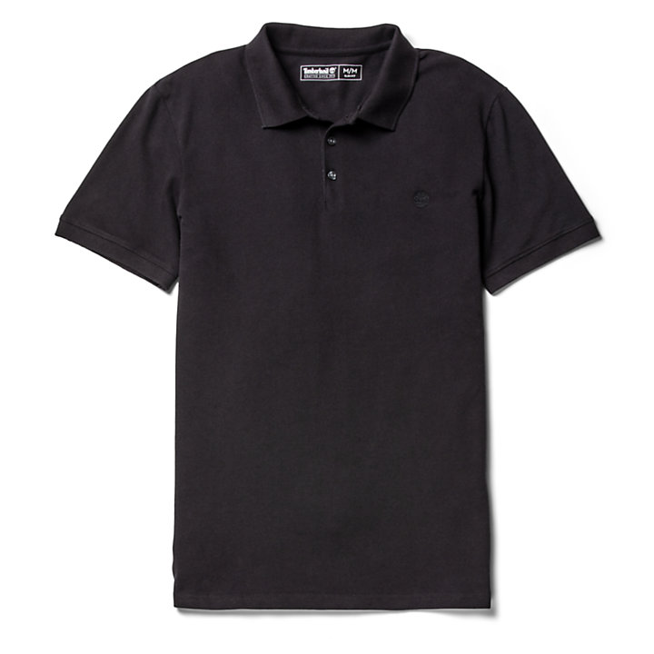 Polo Merrymeeting River para Hombre en color negro-