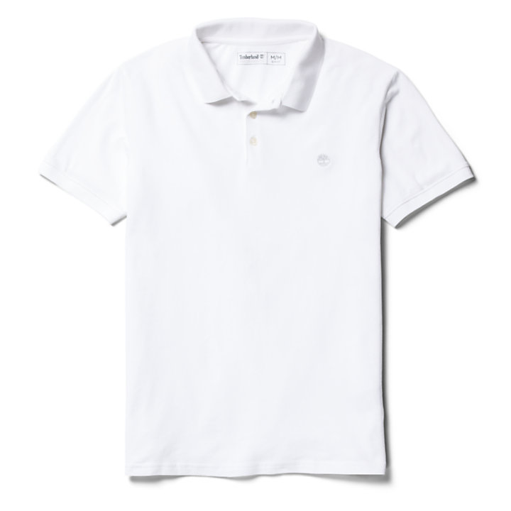 Merrymeeting River Polo Shirt for Men in White-