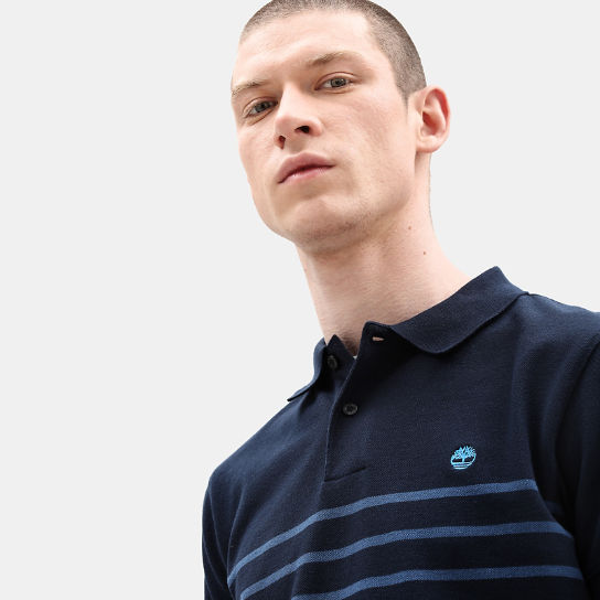 Millers River Stripe Polo voor Heren in marineblauw | Timberland