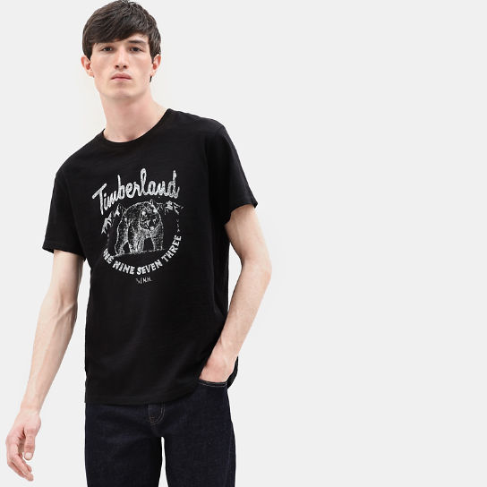 Bear Family T-Shirt for Men in Black | Timberland