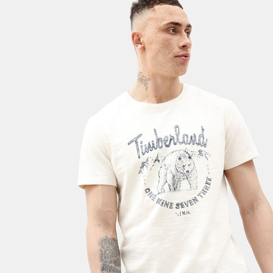 Bear Family T-Shirt for Men in Beige | Timberland
