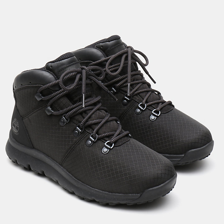 World Hiker Fabric Hiker for Men in Black-