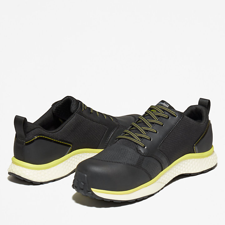 Timberland PRO® Reaxion Work Shoe for Men in Black/Yellow-