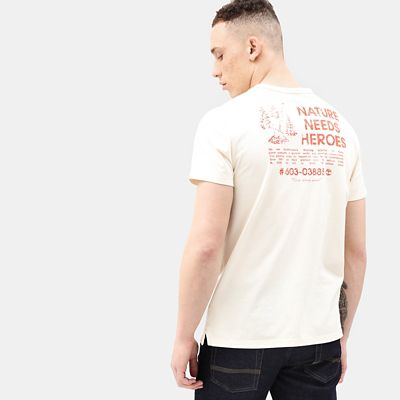 Nature+Needs+Heroes%E2%84%A2+T-shirt+for+Men+in+Beige