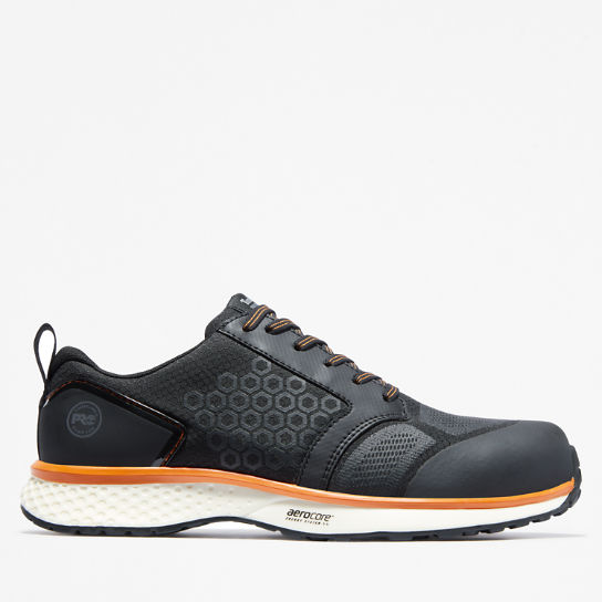 Timberland PRO® Reaxion Work Shoe for Men in Black/Orange | Timberland