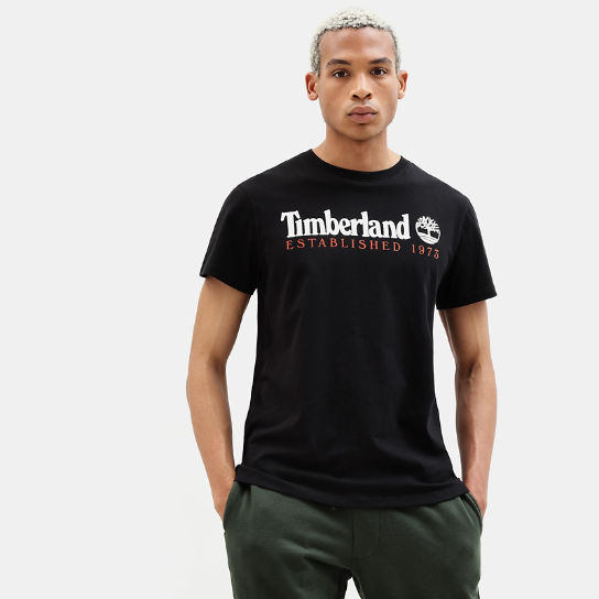 Organic Cotton T-Shirt for Men in Black | Timberland