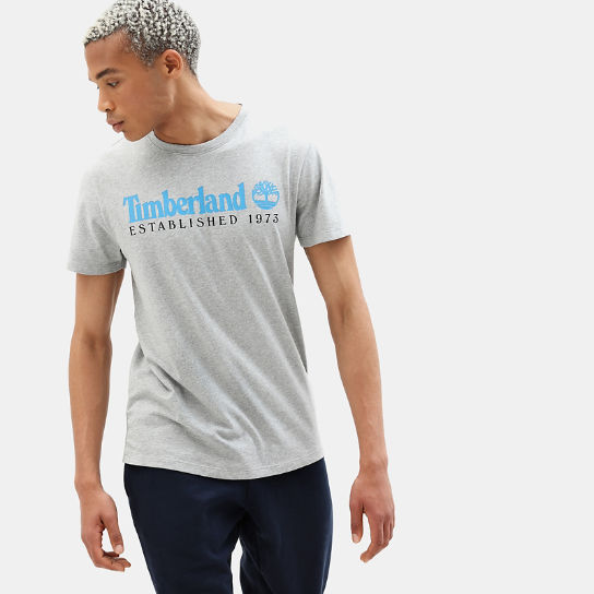 Organic Cotton T-Shirt for Men in Light Grey | Timberland