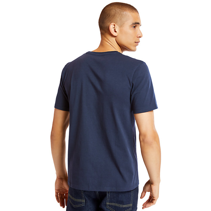 Organic Cotton T-shirt voor Heren in marineblauw-