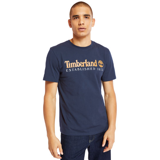Organic Cotton T-shirt voor Heren in marineblauw | Timberland