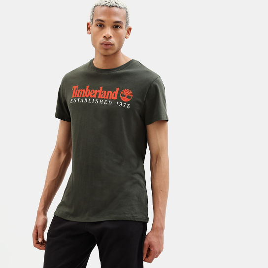 Organic Cotton T-Shirt for Men in Dark Green | Timberland