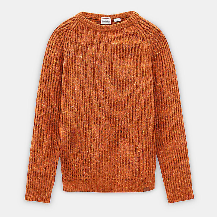 Pull en laine d'agneau Phillips Brook pour homme en Orange-