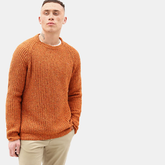 Pull en laine d'agneau Phillips Brook pour homme en Orange | Timberland