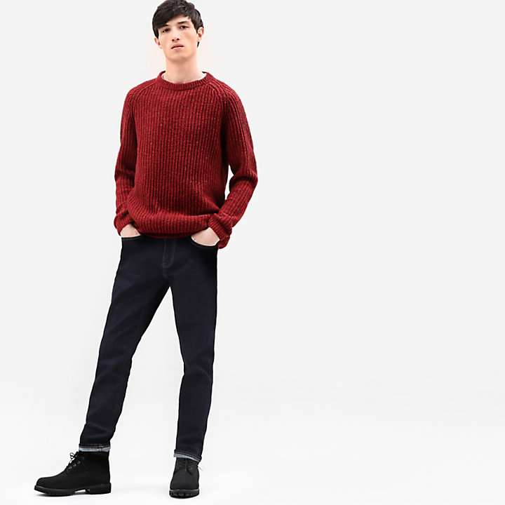 Maglione da Uomo in Lana di Agnello Phillips Brook in bordeaux-