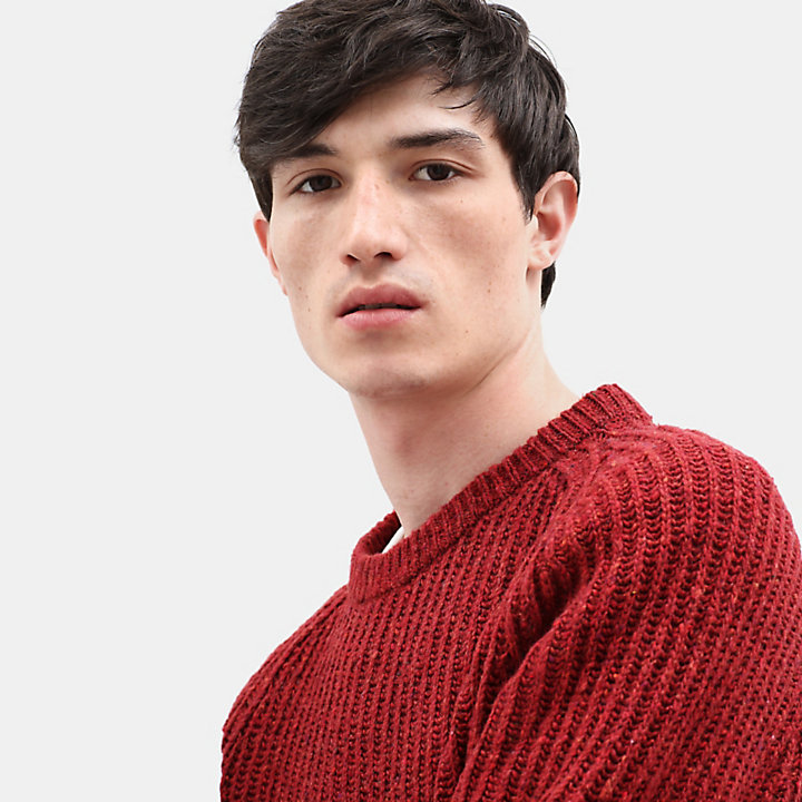 Phillips Brook Lambswool Sweater for Men in Burgundy-