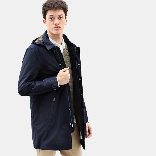 Doubletop Mountain 3 in1 Raincoat for Men in Navy | Timberland