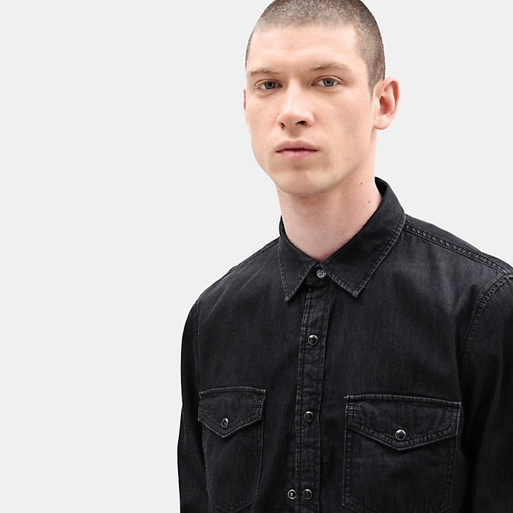 Mumford River Denim Shirt for Men in Black-