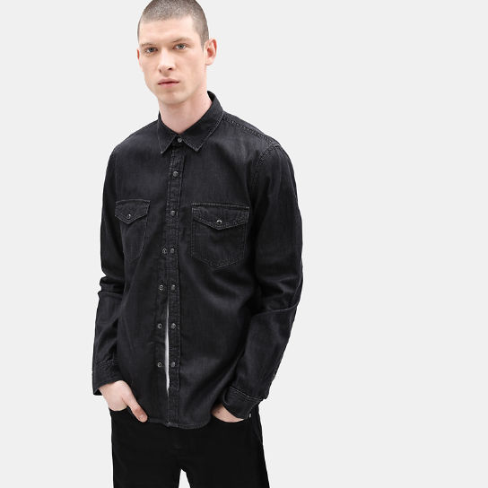Mumford River Denim Shirt for Men in Black | Timberland
